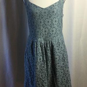 ANTHROPOLOGIE Deletta Lace Dress  Light Blue Lined